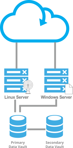 Cloud server website hosting